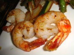 the shrimps were amazing!
