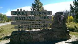 Entrance to RMNP on the Grand Lake side, after crossing Trail Ridge Road