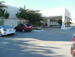 Front entrance and parking lot