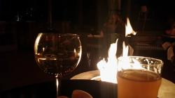 Drinks by the fire pit