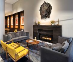 The HUB - Lobby Fireplace