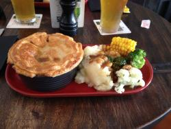 Beef Pie and Vegetables