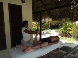 Have a relaxing massage on your patio