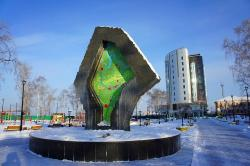 ‪Fontain-Monument to Tyumen Oblast‬