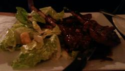 4 lamb chops with ceaser salad.