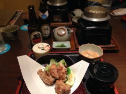 赤鶏御膳と牡蠣釜飯