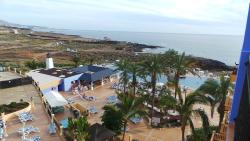View from Balcony of room 6505 towards infinity pool
