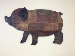 License plate pig