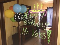 Mural and balloons from staff foir my birthday - sweet!