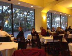Nice big windows in cafe.