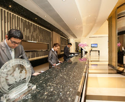 Front Desk at the Rosedale Hotel Kowloon