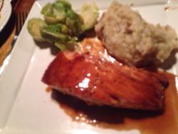 Salmon dinner - delicious!