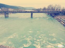 Η καινούργια γέφυρα απο το γεφύρι της Άρτας .