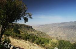 Panorama sur la vallée du Nil depuis le restaurant.