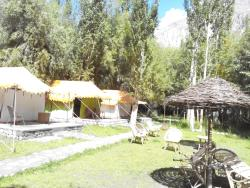 Tents and outside sitting area
