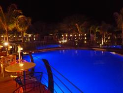 Nighttime at the pool by Oceana restaurant