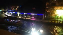 the riverbank from the top balcony