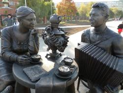 Sculpture Tula Tea-Drinking