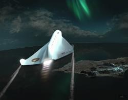 Spaceship Aurora - visitor center at Andoya Space