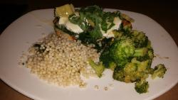 chicken with cous cous and brocoli