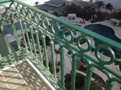 Half-painted balcony railing