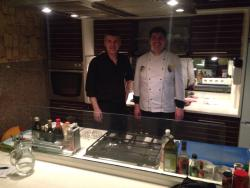 The cook and the waiter! Very friendly guys who do their utmost to give their guests a tasteful