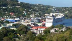 Castries port view from restaurant