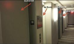 Room between the elevators