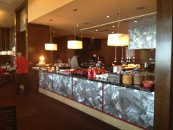 part of breakfast buffet area