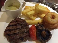 Char grilled fillet steak