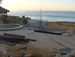 Olas Pool Construction (at the end of our stay)