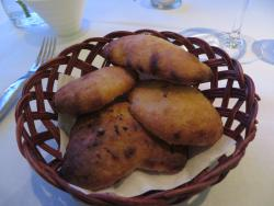 The most wonderful bread - cooked in a very hot oven. Airey, light, chewey, delicious!