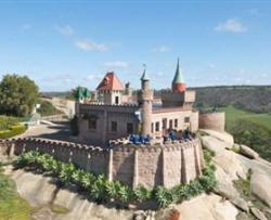 Fairy tail castle on the hill