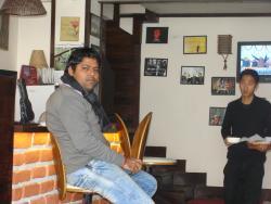 My friend in Hotel restaurant