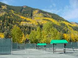 Clay courts at Vail Racquet Club