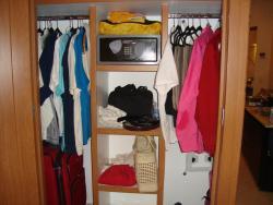 Plenty of storage space, large safe