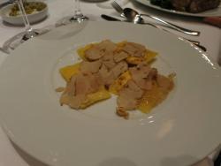 White truffles on ravioli