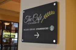 The Café at The Cornhusker proudly serves Starbucks brews