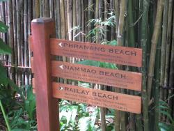 The three beaches that the resort fronts onto