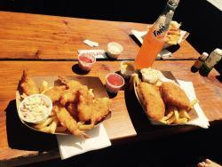 Shrimp and fries basket