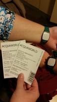 i biglietti e il bracciale magico