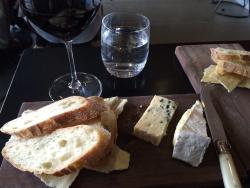 A small 2 cheese platter