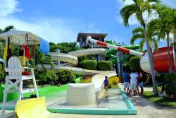 A view of the waterpark