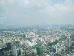 View of the city from 360 degree revolving view point (84th floor)