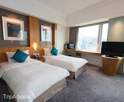 The Executive Parlour Twin Beds at the Metropark Hotel Causeway Bay Hong Kong