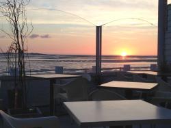 Vue sur la baie depuis le restaurant le Bellevue