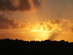 the fiery sunset