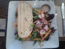 Sandwich végétarien, très copieux