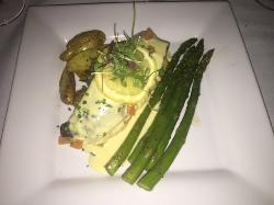 Crab Stuffed Idaho Trout with Asparagus