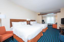 Studio Queen Suite at your Fairfield Inn & Suites by Marriott Hotel in Fredericksburg, Texas